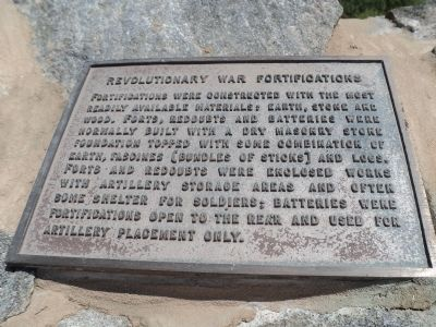 Revolutionary War Fortifications Marker image. Click for full size.