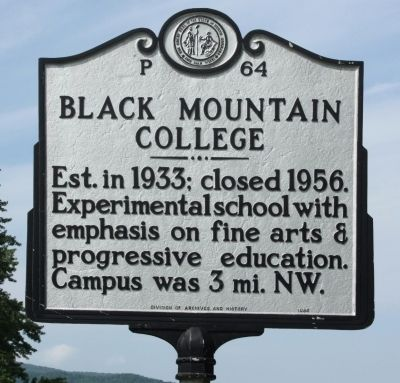 Black Mountain College Marker image. Click for full size.