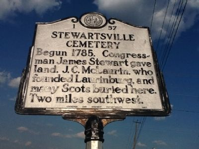 Stewartsville Cemetery Marker image. Click for full size.