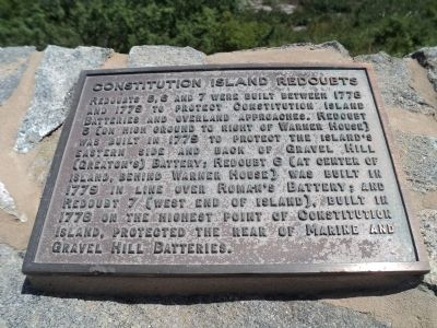 Constitution Island Redoubts Marker image. Click for full size.