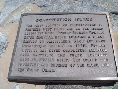 Constitution Island Marker image. Click for full size.