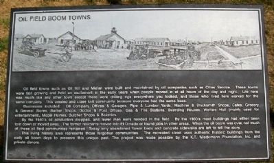 Oil Field Boom Towns Marker image. Click for full size.