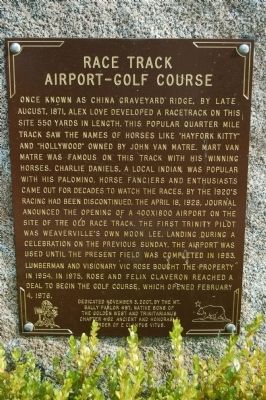 Race Track – Airport – Golf Course Marker image. Click for full size.