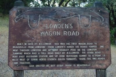 Lowden's Wagon Road Marker image. Click for full size.