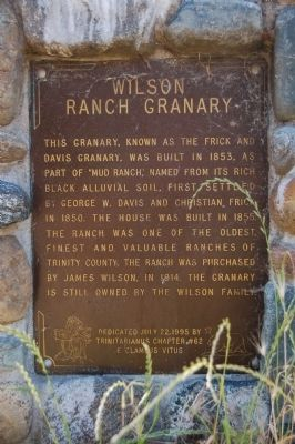 Wilson Ranch Granary Marker image. Click for full size.