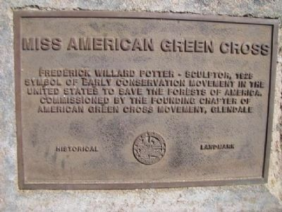 Miss American Green Cross Plaque image. Click for full size.