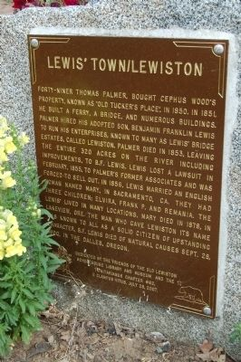 Lewis' Town/Lewiston Marker image. Click for full size.