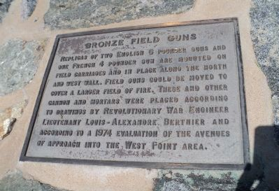 Bronze Field Guns Marker image. Click for full size.
