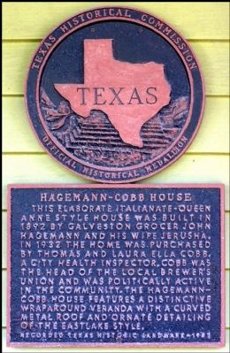 Hagemann-Cobb House Marker image. Click for full size.