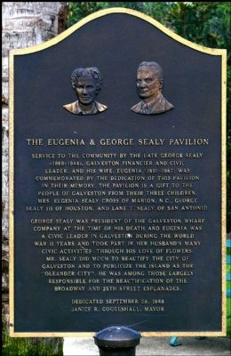 The Eugenia & George Sealy Pavilion Marker image. Click for full size.