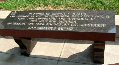 Celebration of Freedom Memorial Bench image. Click for full size.