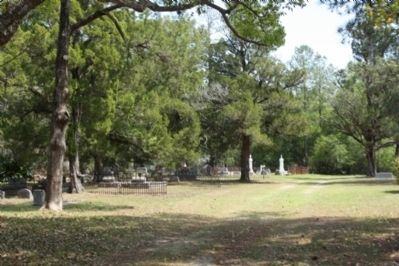 Newnansville Methodist Church Site, today only the cemetery image. Click for full size.