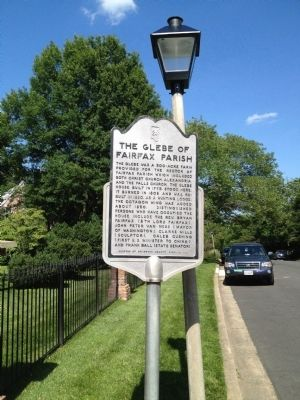 The Glebe of Fairfax Parish Marker image. Click for full size.