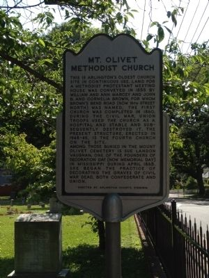 Mt. Olivet Methodist Church Marker image. Click for full size.