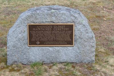 America's Oldest Maintained Cmetery Marker image. Click for full size.
