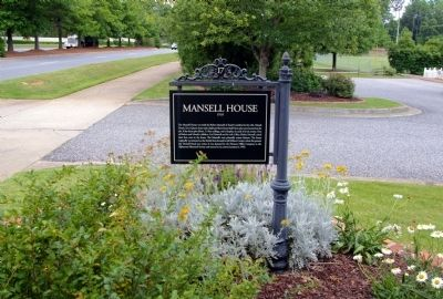 Mansell House Marker image. Click for full size.