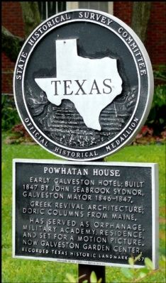 Powhatan House Marker image. Click for full size.