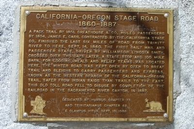 California – Oregon Stage Road Marker image. Click for full size.