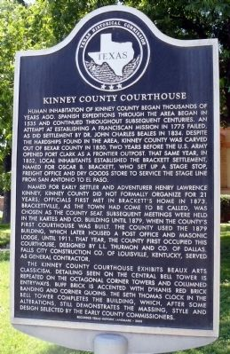 Kinney County Courthouse Marker image. Click for full size.