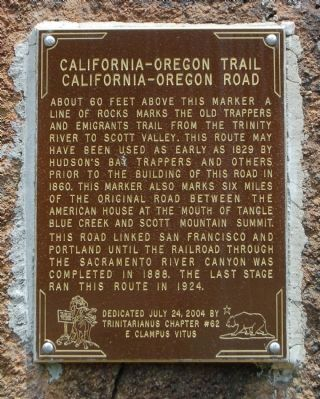 California – Oregon Trail / California – Oregon Road Marker image. Click for full size.