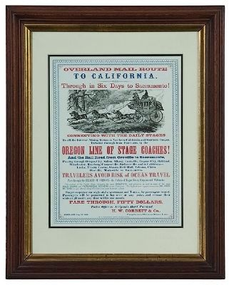 California and Oregon Stage Line Broadside image. Click for full size.