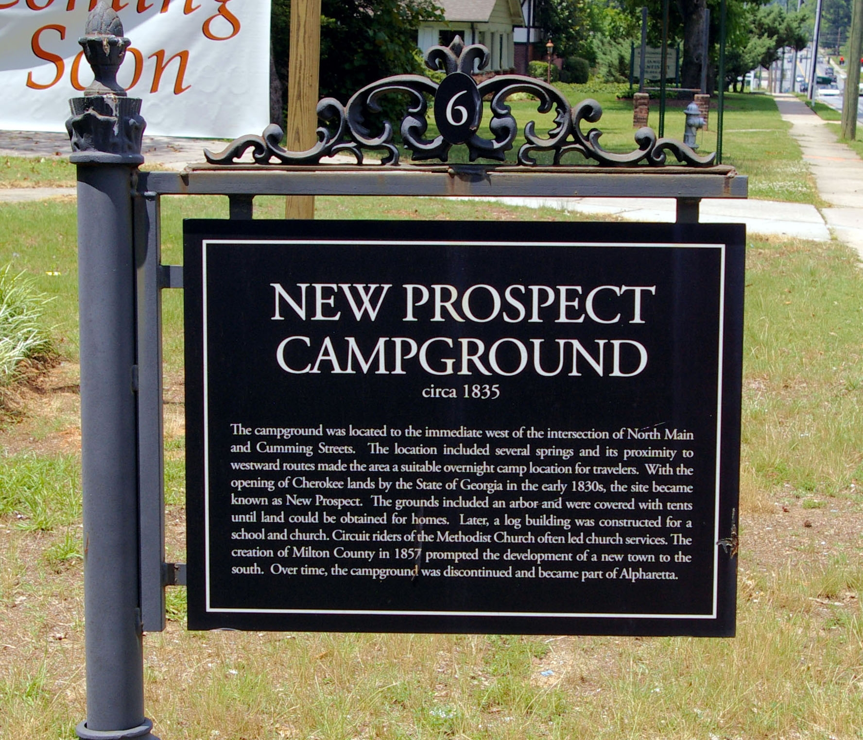 New Prospect Campground Marker