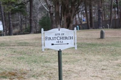 Site of The First Church image. Click for full size.