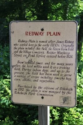 Redway Plain Marker image. Click for full size.