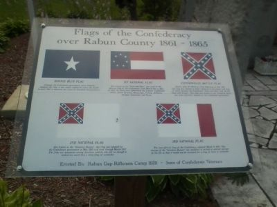 Rabun County War Memorial Marker image. Click for full size.