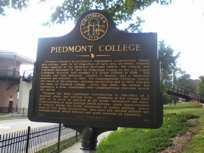 Piedmont College Marker image. Click for full size.