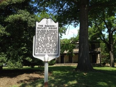 The Dawson-Bailey House Marker image. Click for full size.