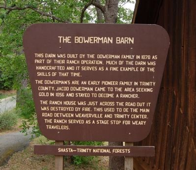 The Bowerman Barn Marker image. Click for full size.