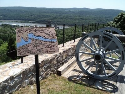 Marker in Fort Putman image. Click for full size.