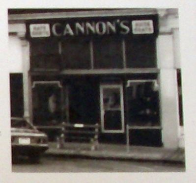 "Plaque Photo - - ""Cannon's Men's Wear "" image. Click for full size."