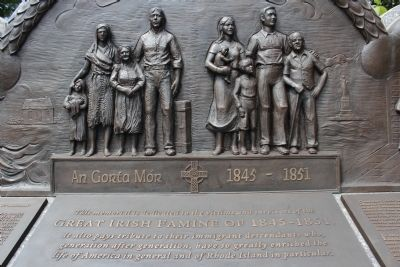 Rhode Island Irish Famine Memorial Marker image. Click for full size.