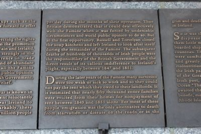 Rhode Island Irish Famine Memorial Marker 4 of 10 image. Click for full size.