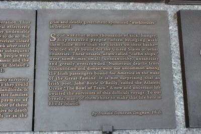 Rhode Island Irish Famine Memorial Marker 5 of 10 image. Click for full size.