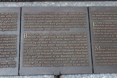 Rhode Island Irish Famine Memorial Marker 8 of 10 image. Click for full size.
