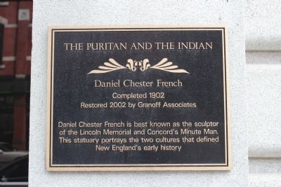 The Puritan and the Indian Marker image. Click for full size.
