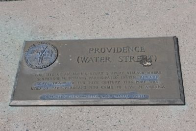 Providence (Water Street) Marker image. Click for full size.