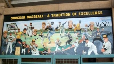 WSU Baseball Traditions Mural at Eck Stadium image. Click for full size.