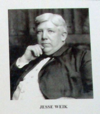 "Plaque Photo - - ""Jesse Weik"" image. Click for full size."