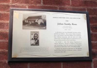 Julian Family Home Marker image. Click for full size.