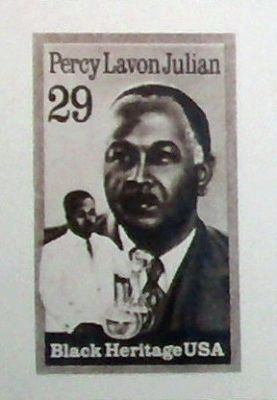 Commemorative Stamp - - Percy Lavon Julian image. Click for full size.