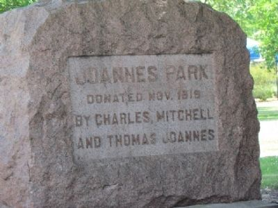 Nearby Joannes Park and Marker image. Click for full size.