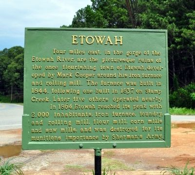 Etowah Marker image. Click for full size.