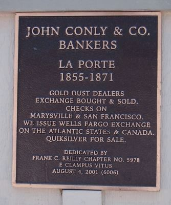 John Conly & Co. Bankers Marker image. Click for full size.