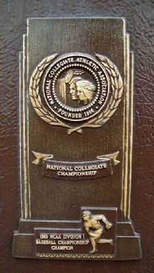 WSU Shockers 1989 NCAA National Champion Trophy on Marker image. Click for full size.