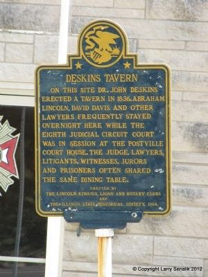 Deskins Tavern Marker image. Click for full size.