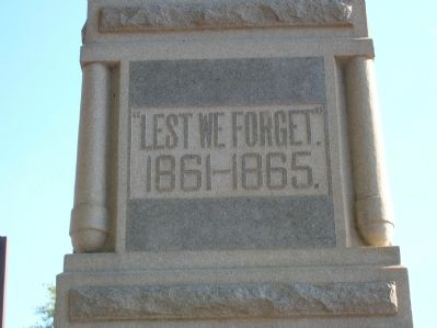 Our Confederate Heroes Marker (left) image. Click for full size.